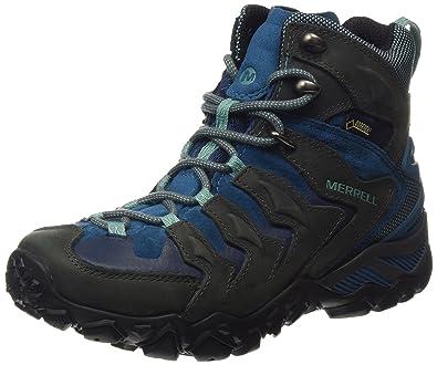 Merrell Cham Shift Mid GTX, Damen Trekking- & Wanderschuhe, Grau (Granite), 37 EU