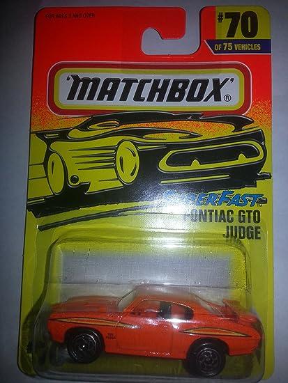 MATCHBOX 1997 SUPERFAST #70 OF 75 PONTIAC GTO JUDGE ORANGE