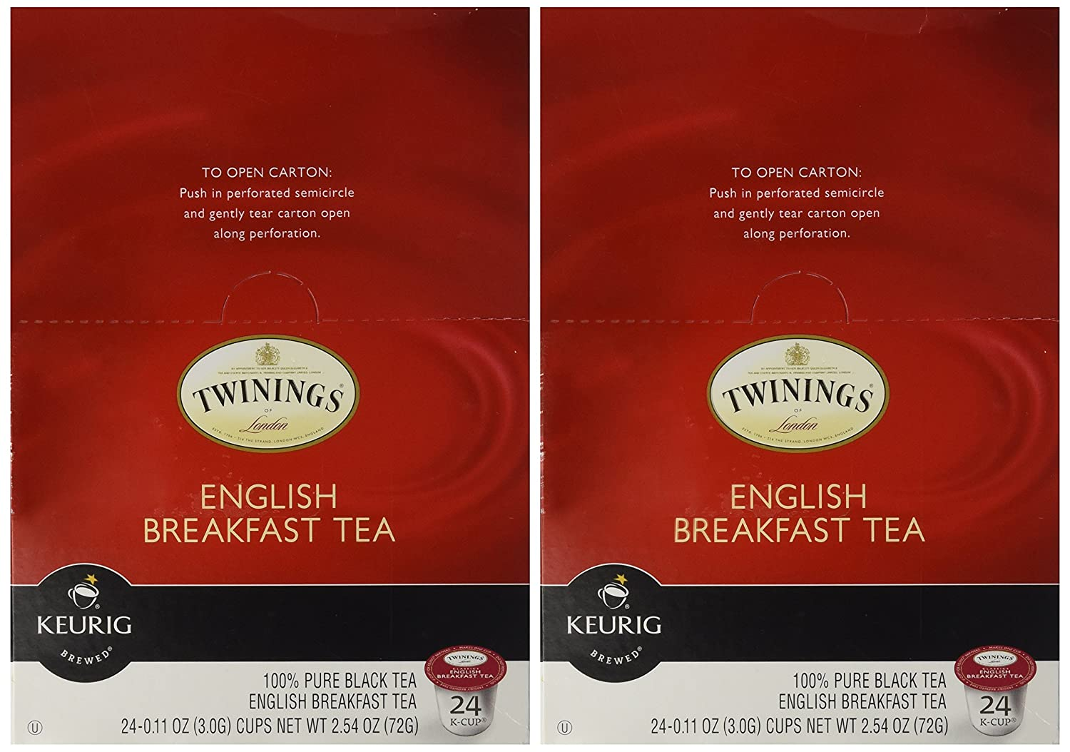 Twinings of London English Breakfast Tea K-Cups for Keurig, 24 Count (Pack of 2)