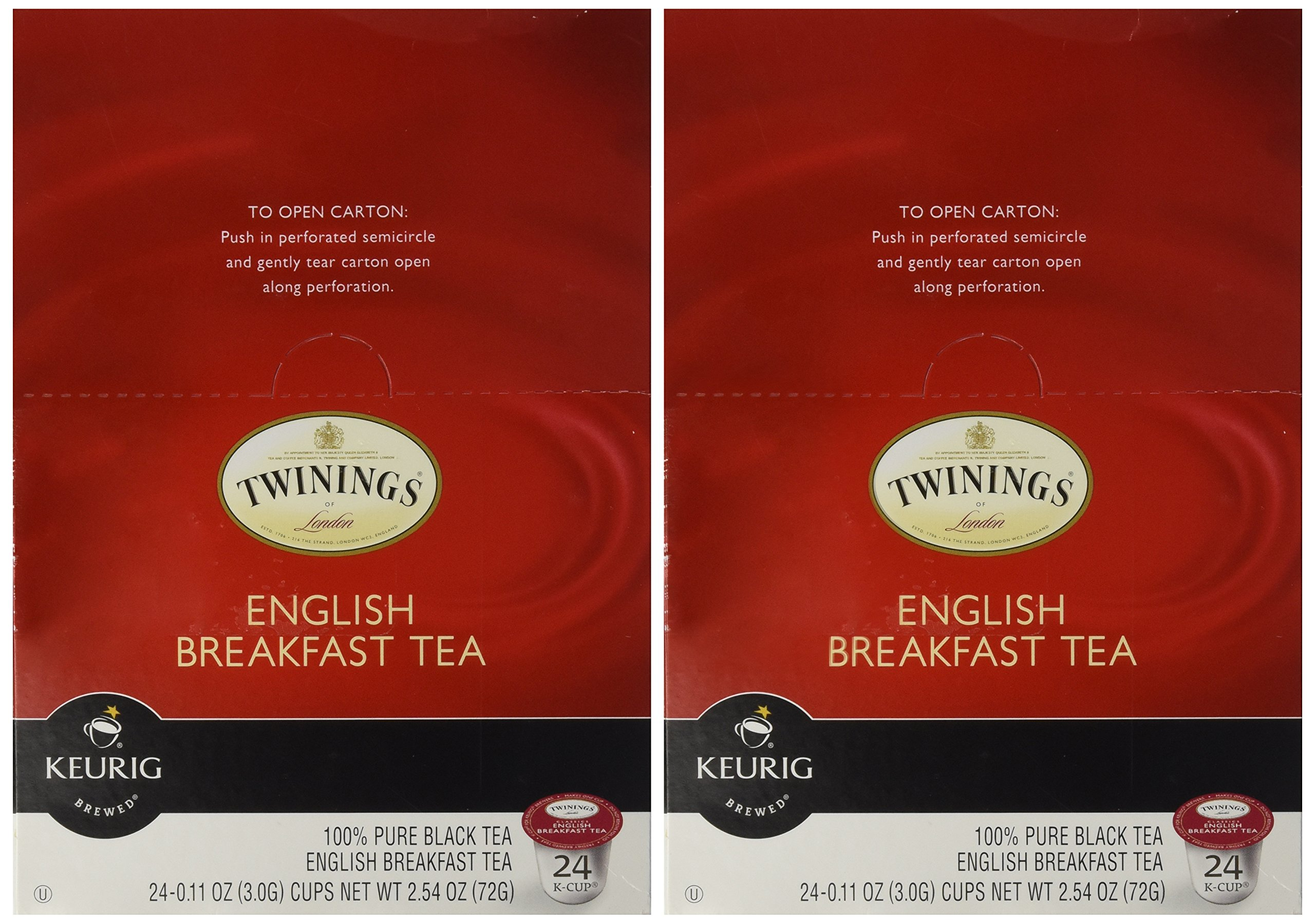 Twinings of London English Breakfast Tea K-Cups for Keurig®, 24 Count (Pack of 2) by Twinings