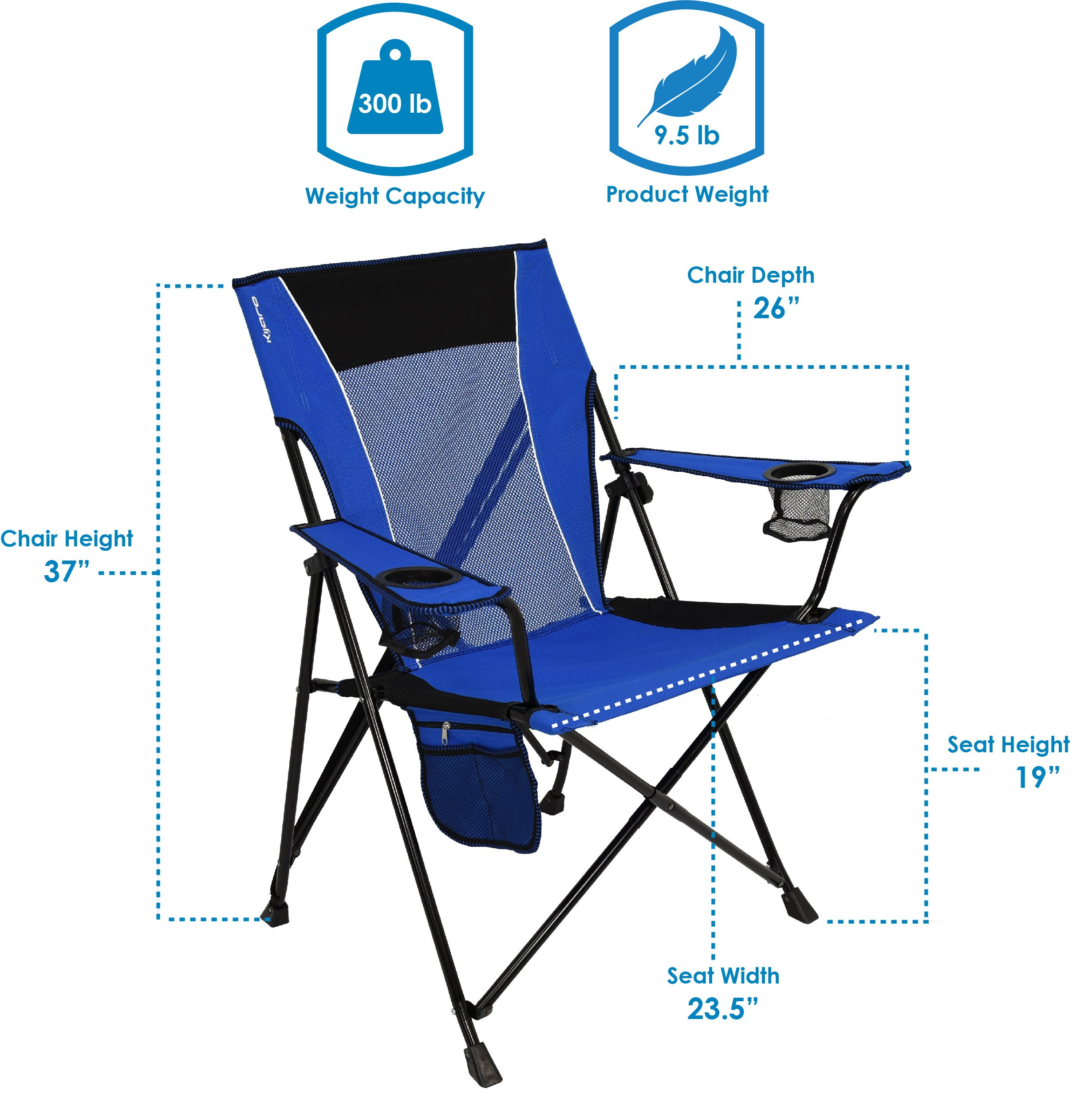 Kijaro Dual Lock Portable Camping And Sports Chair Aaron