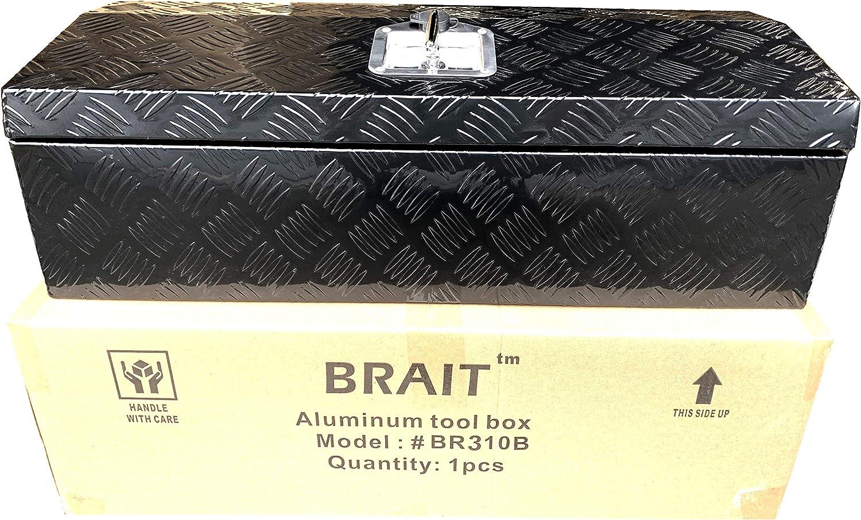 Brait 30x10x10 Aluminum Tool Box Storage for Truck ATV RV Boat Motorcycle Silver