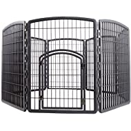 IRIS Exercise Panel Pet Playpen with Door - 34 Inch