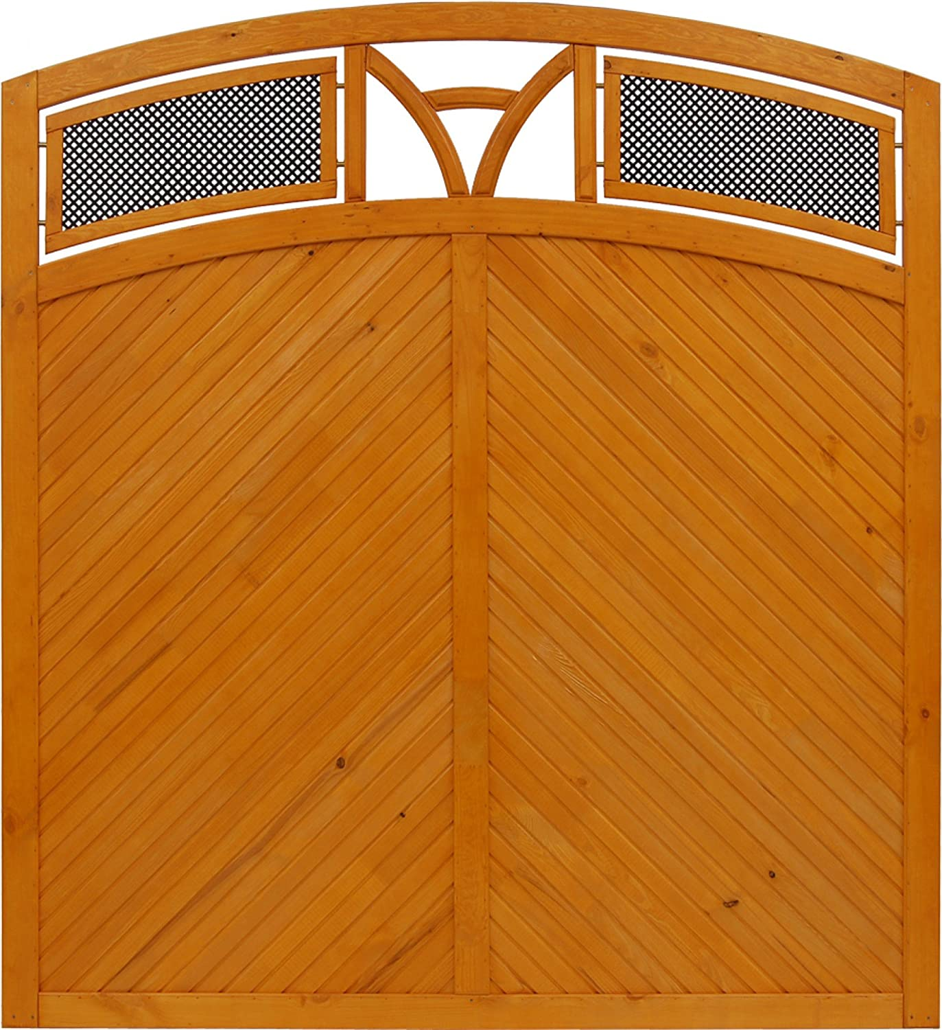Andrewex wooden fence, fencing panel, garden fence 180 195 x 180, varnished, pinie