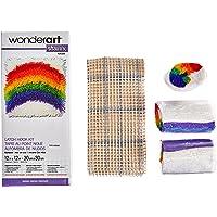WonderArt Shaggy Kit de ganchillo, diseño de perro, Arcoiris (Rainbow), 1