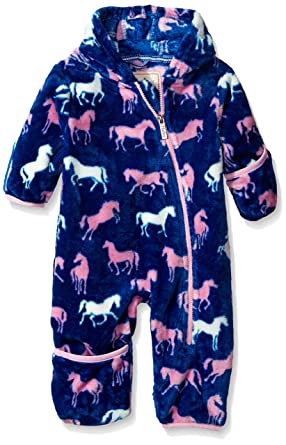 a38cea791 Amazon.com  Hatley Baby Girls  Fuzzy Fleece Bundler Silhouette ...