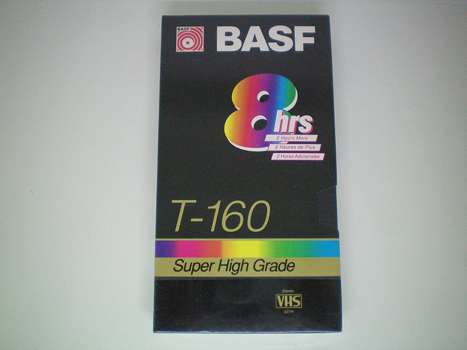 BASF T-160 Extra Quality 8 Hour Blank VHS Video Cassette Recording Tape VHS Tape