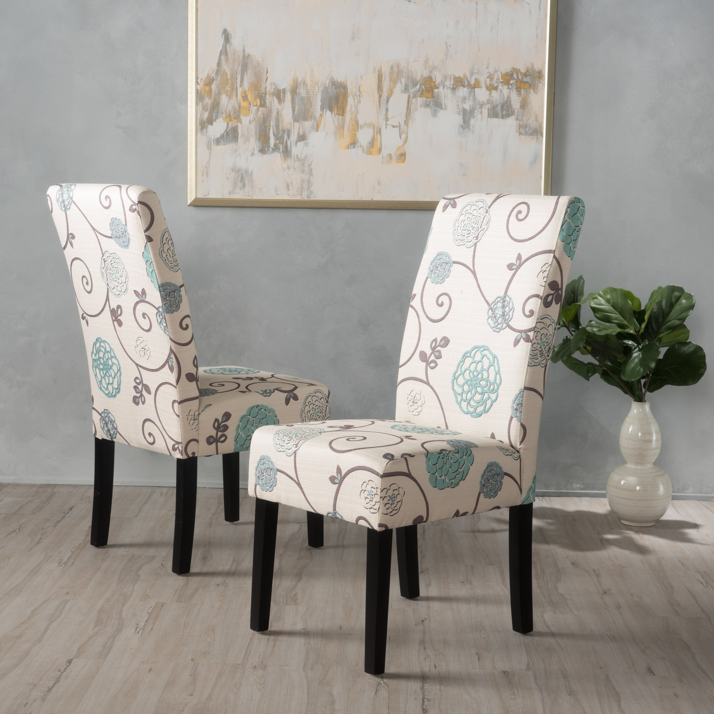 Christopher Knight Home 299448 Pertica Dining Chair Set, White/Blue Floral by Christopher Knight Home (Image #2)