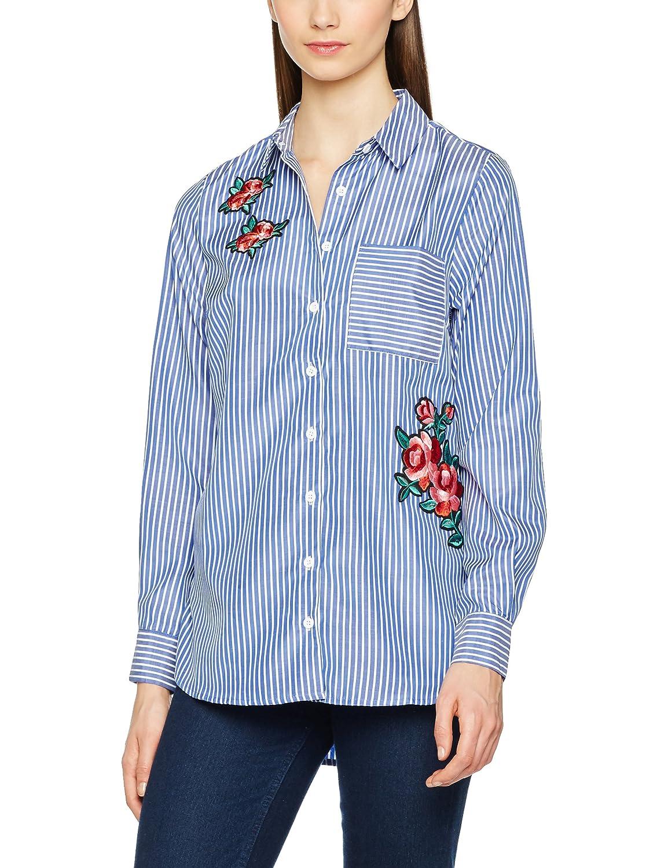 New Look Poplin Rose Badge, Camisa para Mujer