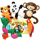 Wild Friends Jungle Sewing & Craft Kit - Tiger, Monkey, Parrot, Snake, Panda