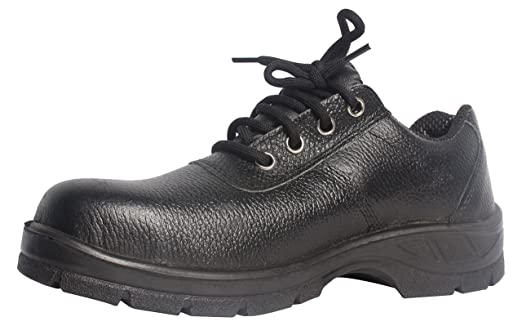 AJK Fire & Safety Men's Black Leather Safety Shoes - 11 UK: Amazon.in:  Industrial & Scientific