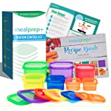 21 Day Portion Control Diet Container Set LABELED Portion Control Set (7 Piece) Autumn Diet Fix Kit + Meal Plan Guide – BPA Free Food Storage Containers Lose Weight