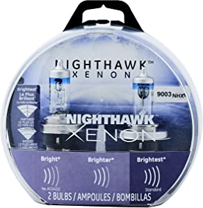 GE Lighting 9003 NHX/BP2 Nighthawk Xenon Halogen Replacement Bulb, 2-Pack