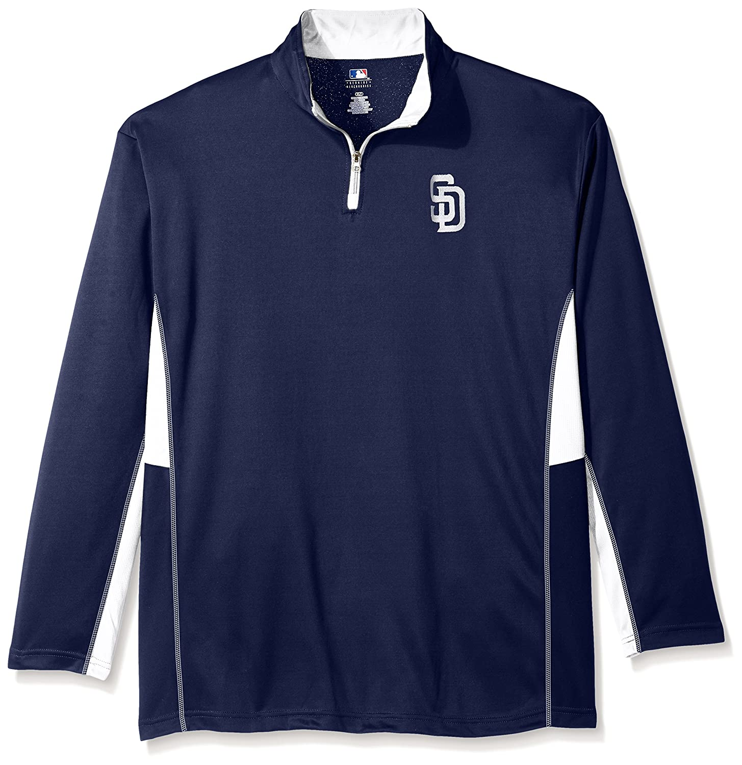 brand new 159a0 9c117 MLB San Diego Padres Men's Long Sleeved Quarter Zip Poly ...