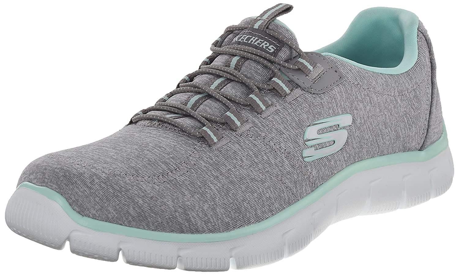 Skechers Damen Empire to Heart Turnschuhe Schwarz Pointure