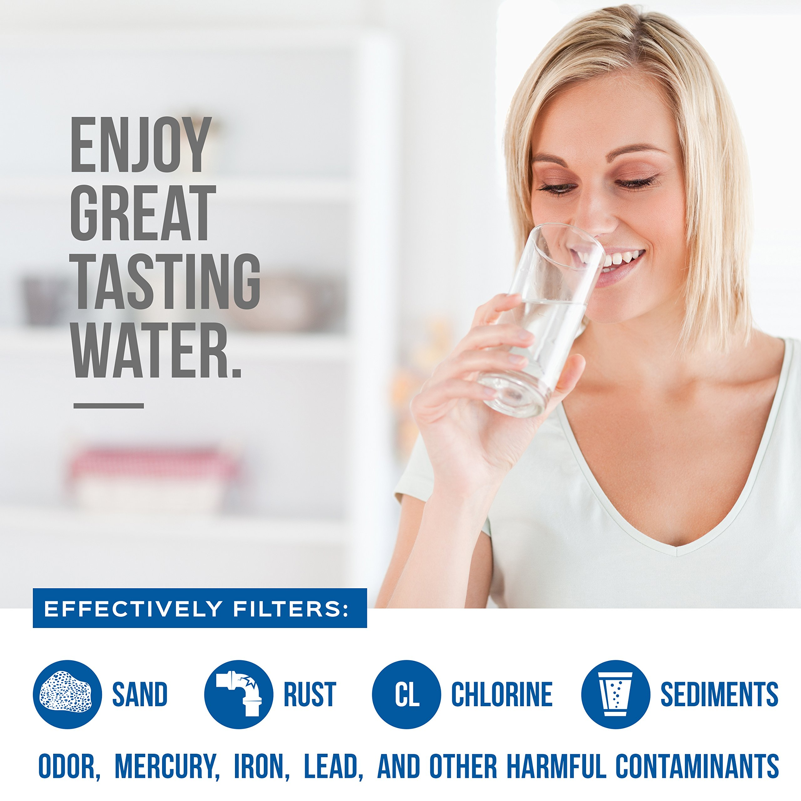Refrigerator Water Filter: Replacement for FRIGIDAIRE ULTRA-WF | Also Works With the Kenmore, PureSource and side-By Side Fridge Appliances Models by EconoHome (Image #3)