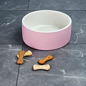 Magisso 90200 Water Bowl Natural Cooling Ceramic Keeps Water Cold, 20 cm Diameter, 1.8 litres, Pink