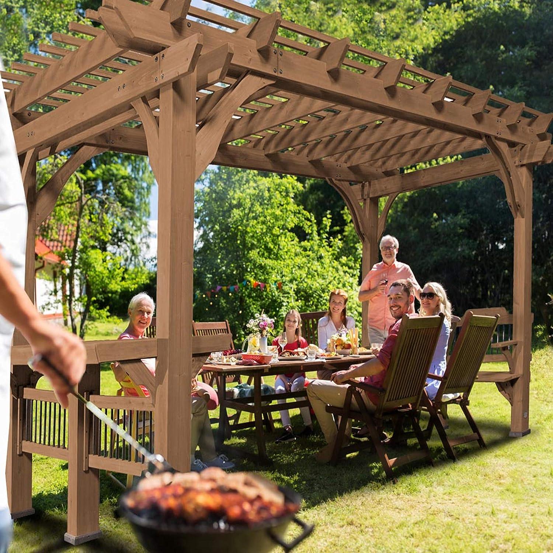 Backyard Discovery Bella Vista Pergola, Color marrón: Amazon.es ...