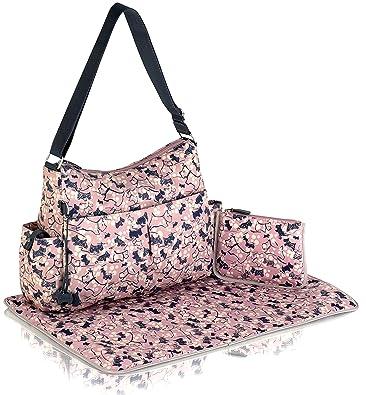 55de1fe764ba Radley New Oilskin Cherry Blossom Large Baby Changing Bag In Pink ...