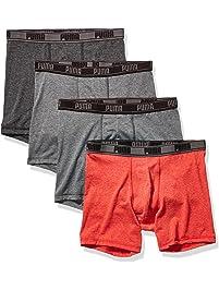 PUMA Mens Men's 4 Pack Tech Boxer Brief Boxer Briefs