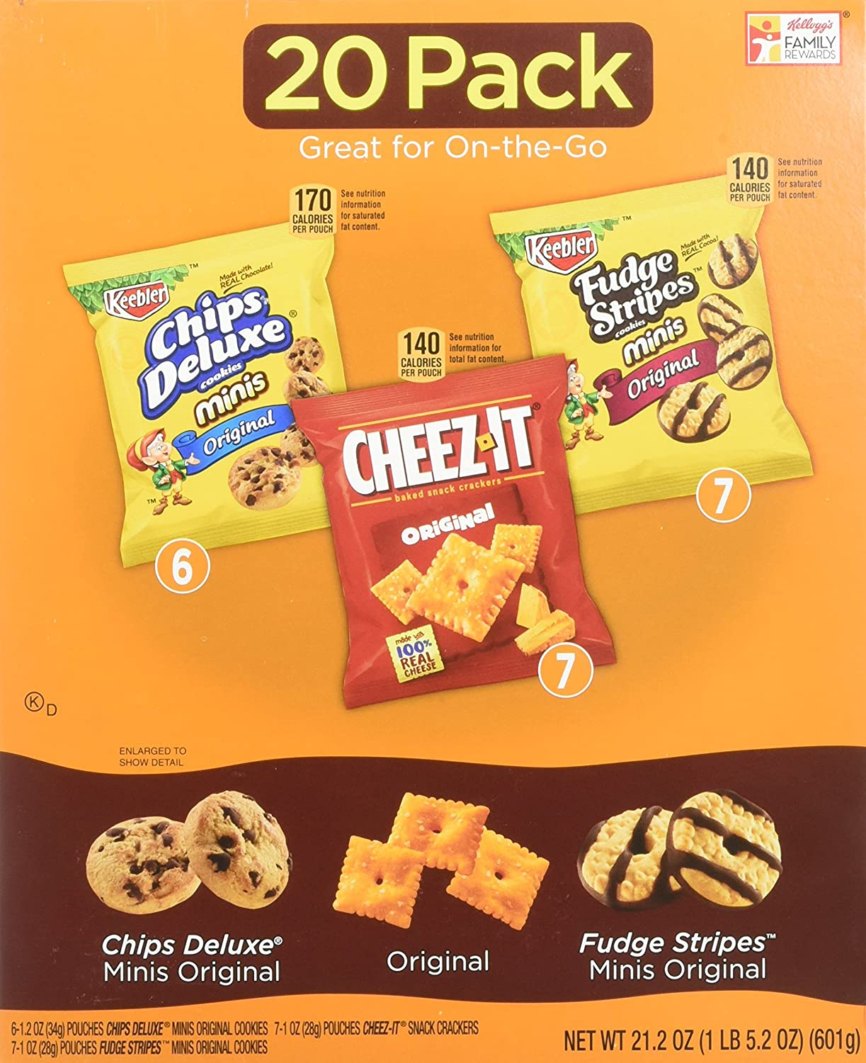 Amazon.com: Keebler Cookie and Cheez-It Variety Pack (Packaging May ...