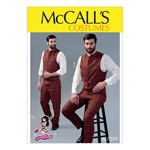 Steampunk Sewing Patterns- Dresses, Coats, Plus Sizes, Men's Patterns  Single or Double-Breasted Vests & Flat-Front Pants SEWING PATTERN $9.69 AT vintagedancer.com