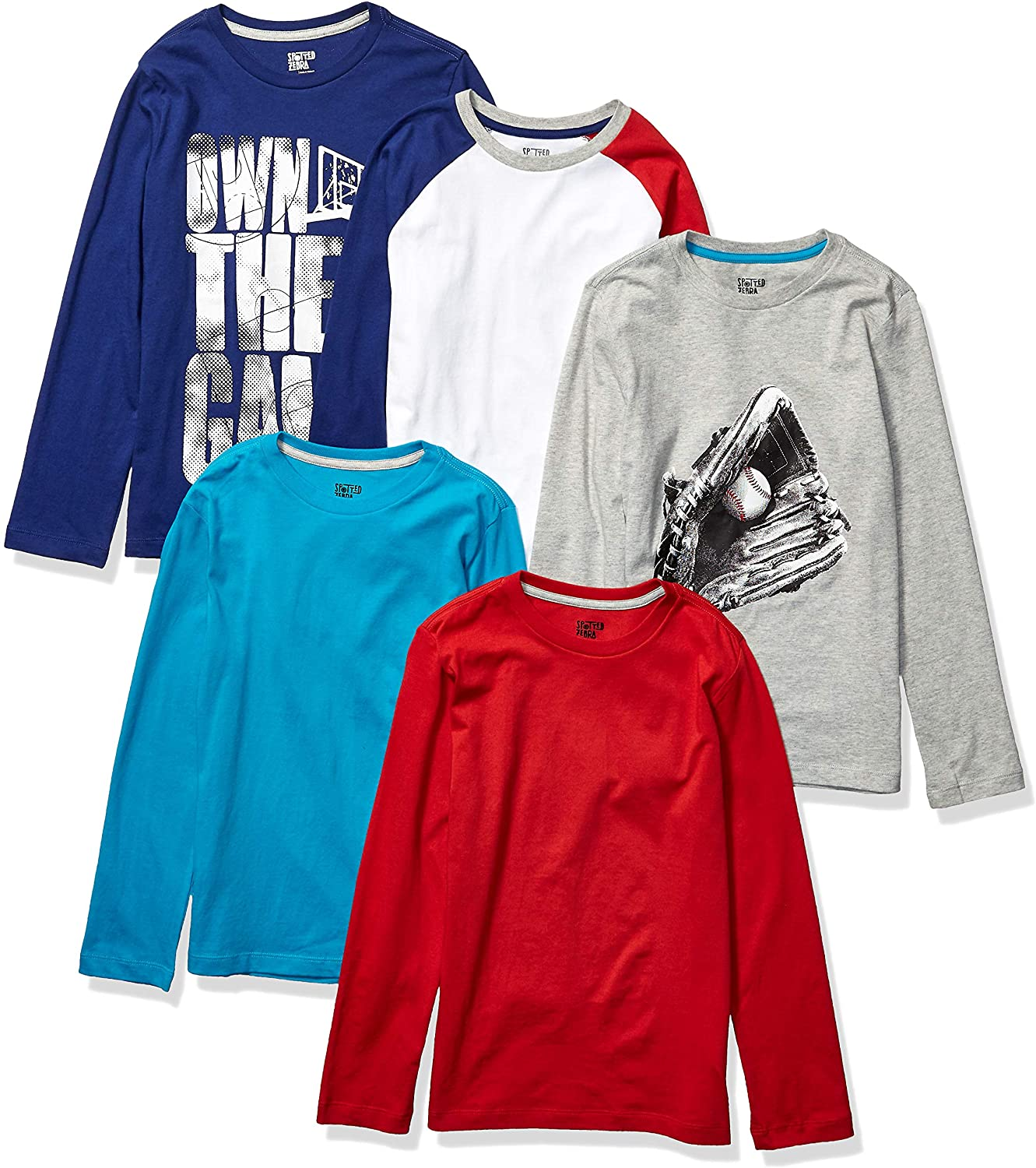 Brand Spotted Zebra Boys Toddler /& Kids 5-pack Long-sleeve T-shirts