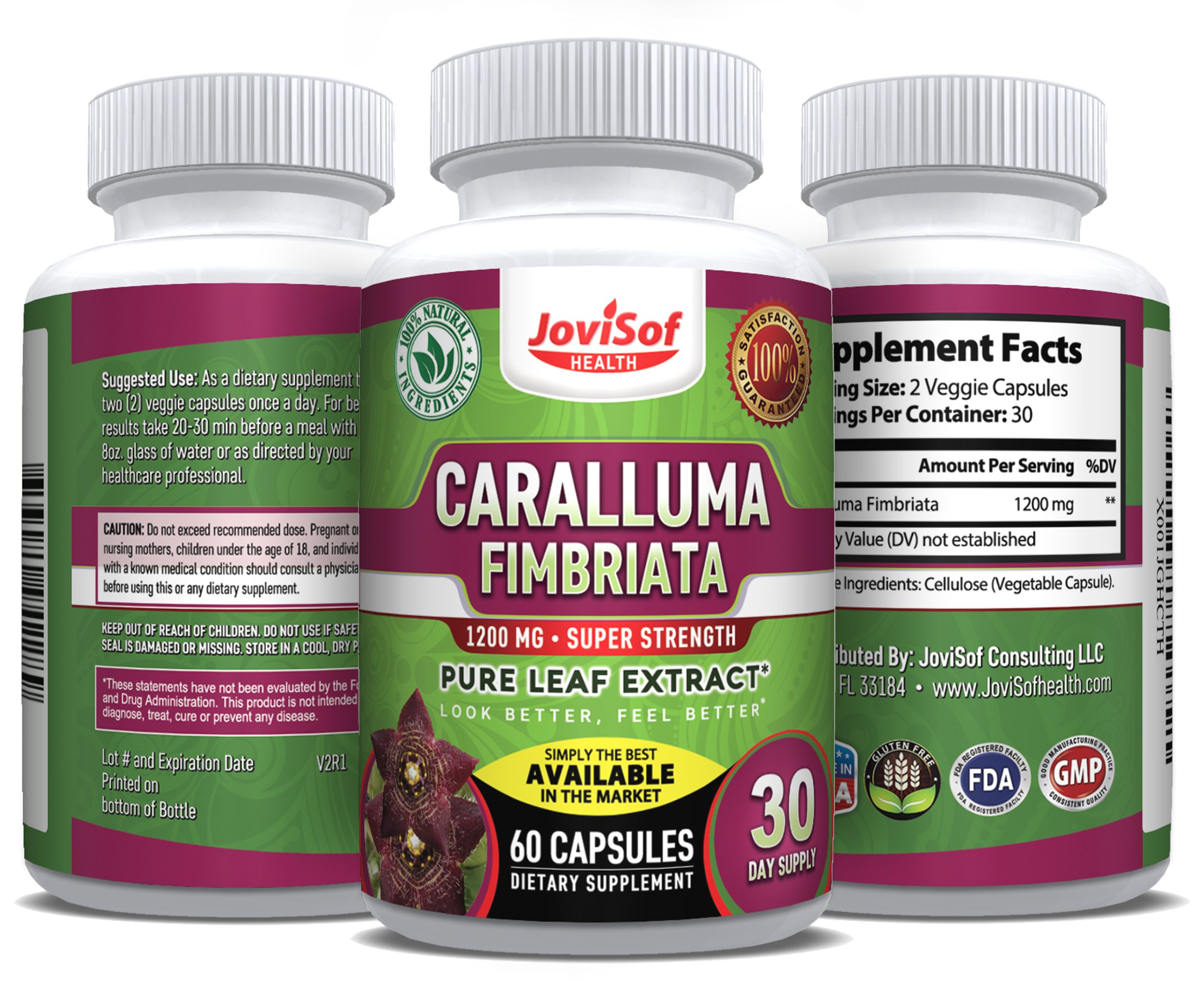 Caralluma Fimbriata Leaf Extract 1200 Mg.Super Strength   Best Weight Loss Pills   Lose Weight Fast   Fat-Carb Blocker  Block Fat Intake   Build Lean Muscle