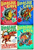 Dinosaur Cove Collection Rex Stone 4 Books Set (Flight of the Winged Serpent, Catching the Speedy Thief , Stampede of the Giant Reptiles, Dinosaur Cove: A Jurassic Survival Guide)