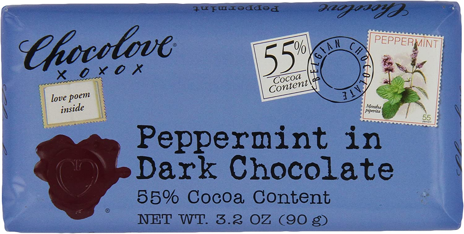 Chocolove Peppermint Dark Chocolate, 3.2000-ounces (Pack of 6)