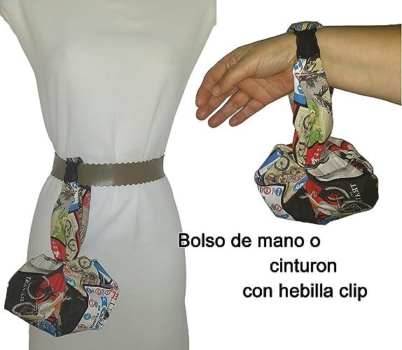 bolso de mano y para colgar del cinturn motos antiguas handmade cabe el mvil las llaves la cartera pauelos etc ideal para ir de paseo