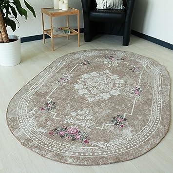 Mynes Home Teppich Waschbar Grau Bordure Rutschhemmend Anti Rutsch