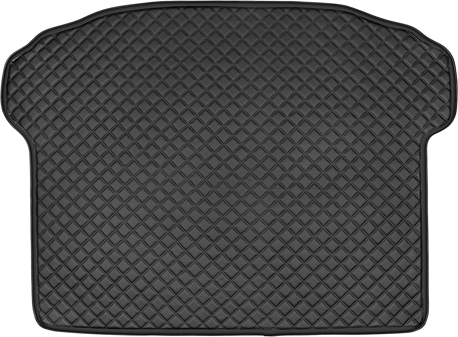 San Auto Cargo Liners Custom Fit for BMW X3 G01 X4 G02 2018 2019 Luxury Leather PU Heavy Duty Leatherette Black Cargo Liner Waterproof Odorless Protector