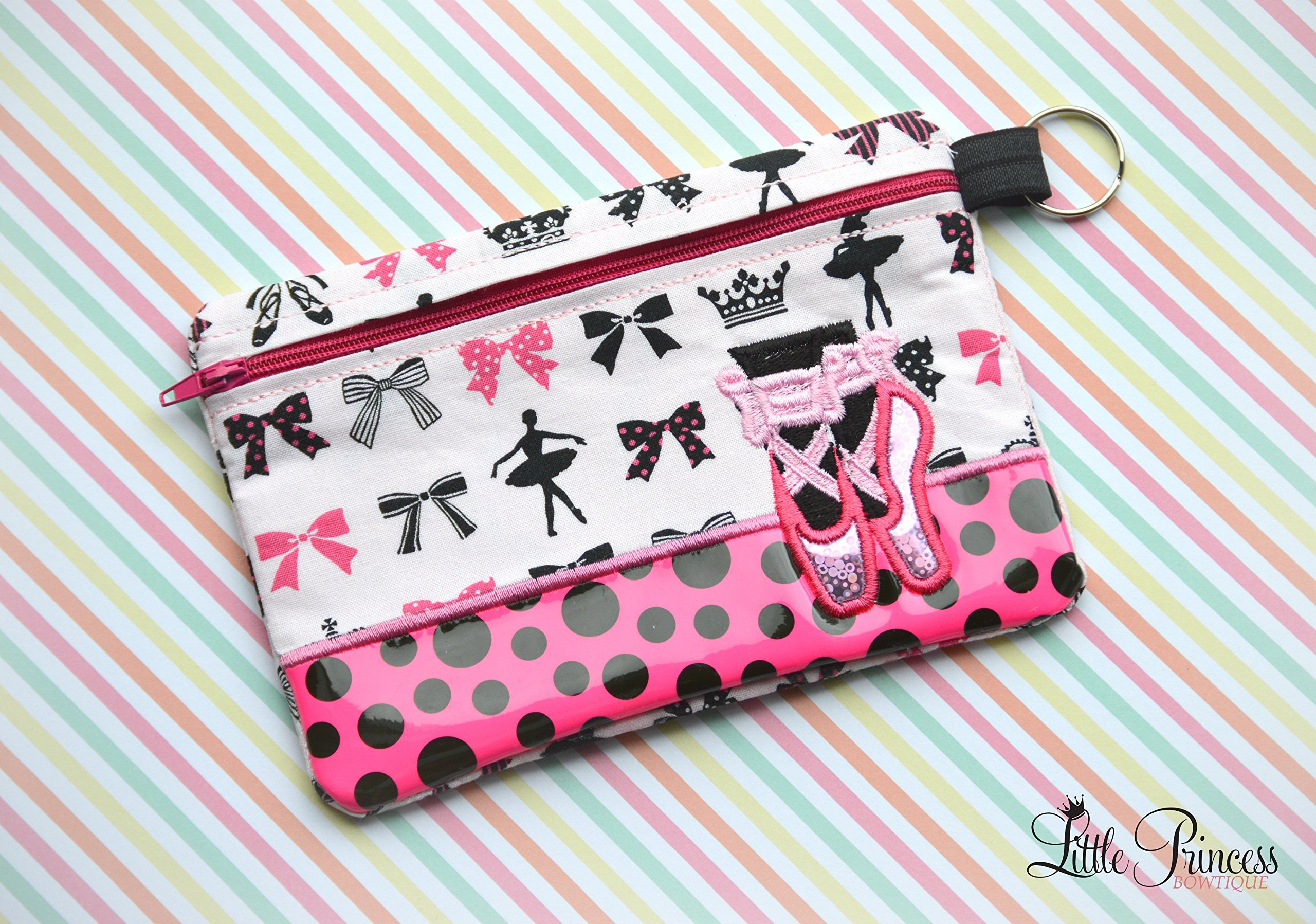 Ballerina Bag, Cosmetic Bag, Toiletry Bag. by Little Princess Bowtique