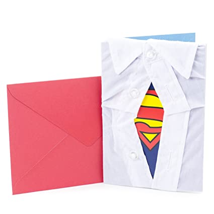 Amazon Hallmark Signature Birthday Card For Him Superman Silhouette Office Products