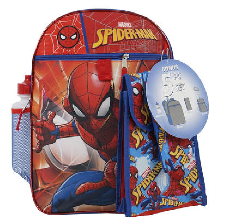 5pc 16 Spiderman 16in Backpack Set SG/_B07BGT2DWL/_US
