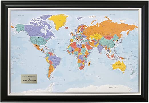 World Map With Push Pins Amazon.  Personalized Push Pin World Travel Map with Black