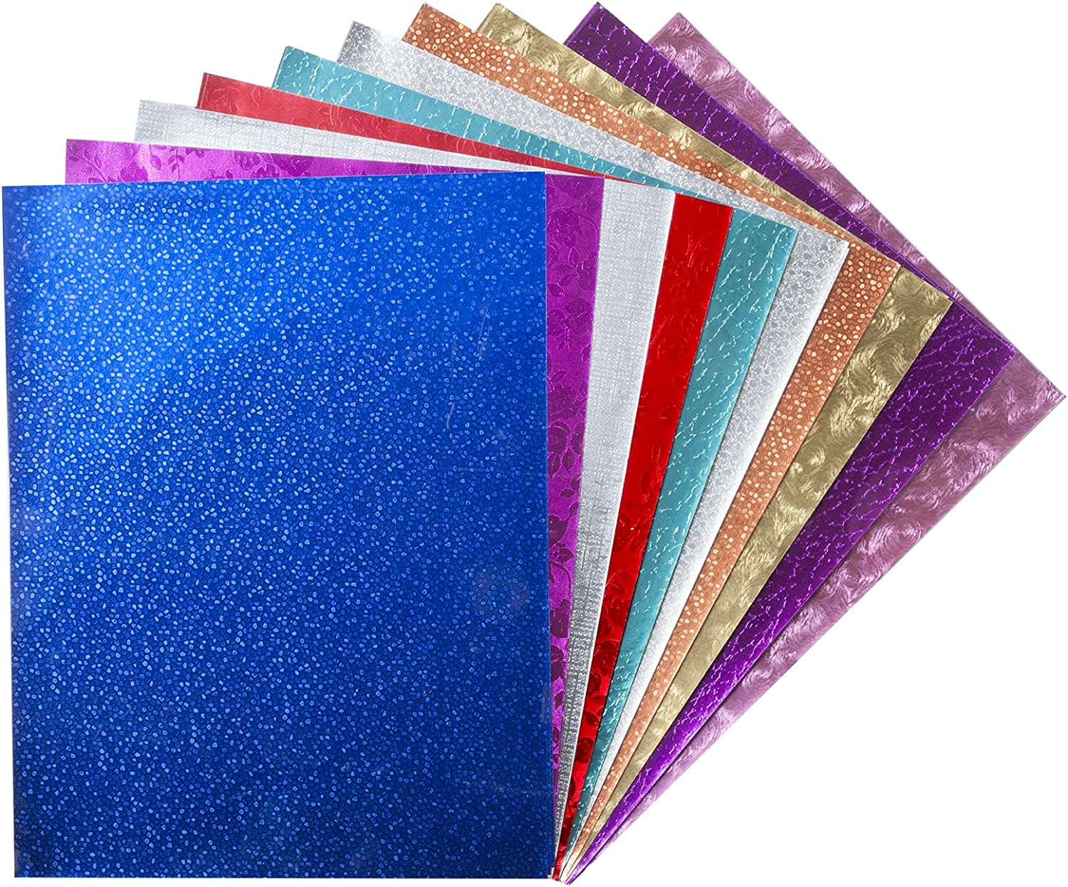 20 X 26 in Hygloss Metallic Foil Paper Pack of 12 Assorted Color 12 Sheets