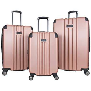Kenneth Cole REACTION Reverb Hardside 8-Wheel 3-Piece 20  Carry-on, 25 , 29  Luggage Set, Rose Gold,