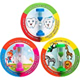 ANK-Trade 3 Minutes Toothbrush Timer Helps Ingrain Thorough Brushing Habit for Better Oral Health – Set of 3 Tooth Brushing Timer for Kids – Hourglass Sand Timer – Blue, Pink & Green