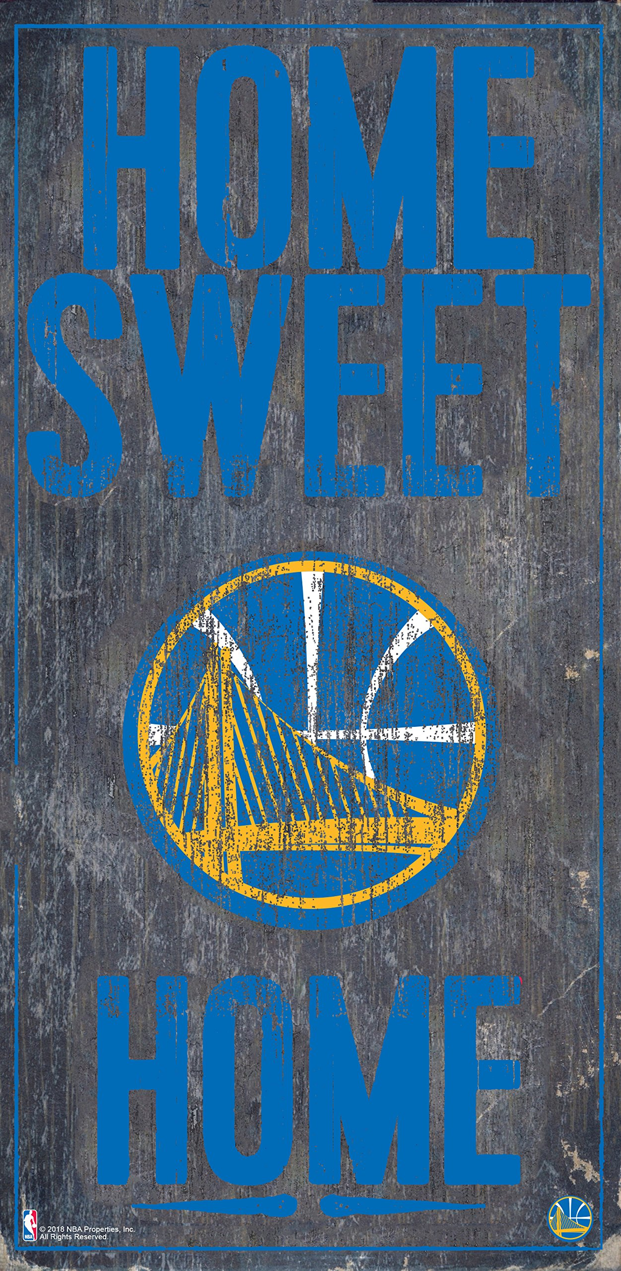 Fan Creations Golden State Warriors 6'' x 12'' Home Sweet Home Wood Sign by Fan Creations