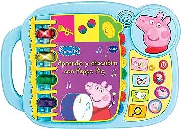 Oferta amazon: VTECH- Aprendo y Descubro con Peppa Pig Libro Infantil Que Enseña El Abecedario y Nuevas Palas, Multicolor, Talla Única (3480-518022) , color/modelo surtido