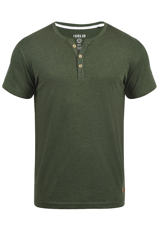 !Solid Volker Camiseta Básica De Manga Corta T-Shirt para Hombre con Cuello Grandad
