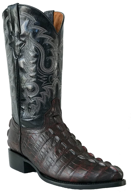 17ca2f410a6 Amazon.com | Hand Made Men's New Leather Crocodile Tail Design ...
