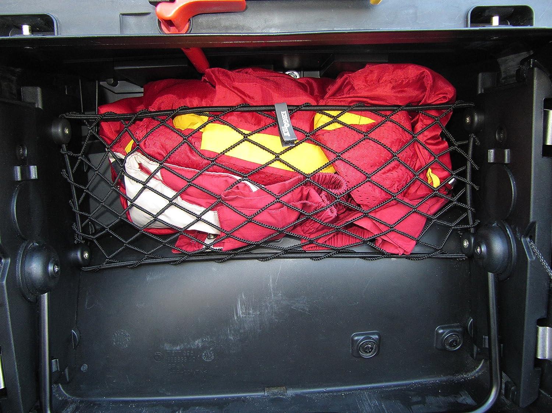 Rete 'a parapetto' per valigia Vario SINISTRA moto BMW R 1200 GS, modelli prodotti dal 2004 al 2012. Ergotech S.r.l.