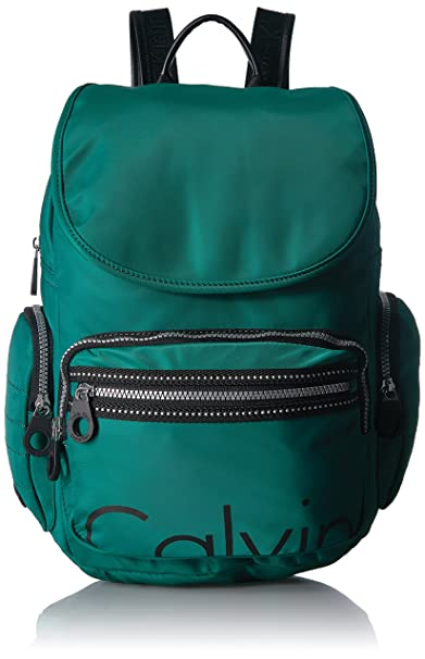 a8033d196ff Calvin Klein Athleisure Nylon Backpack, Spruce: Amazon.ca: Clothing ...
