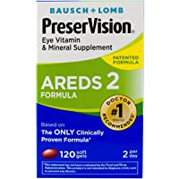 Bausch + Lomb PreserVision AREDS 2 Eye Vitamin & Mineral Supplement Soft Gels, 120...