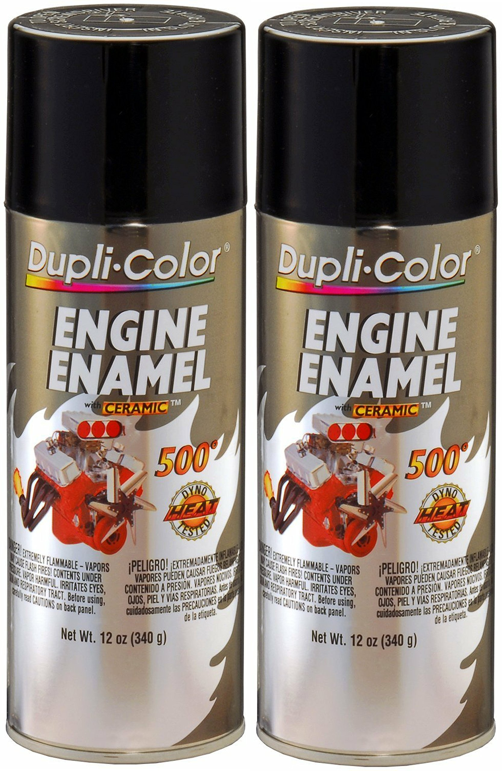 Dupli-Color ® DE1613 Gloss Black Engine Enamel with Ceramic 12 oz. Aerosol (2)