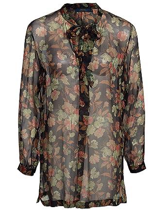 36774ab9155a6 Polo Ralph Lauren Women s Inigo LS Shirt Floral Size Large   UK 14 100% silk