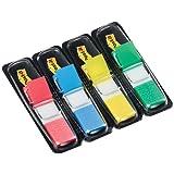 Post-It Haftstreifen 683-4 Index Mini (4 x 35 Haftstreifen im Spender, 11,9 x 43,2 mm) rot/blau/gelb/grün